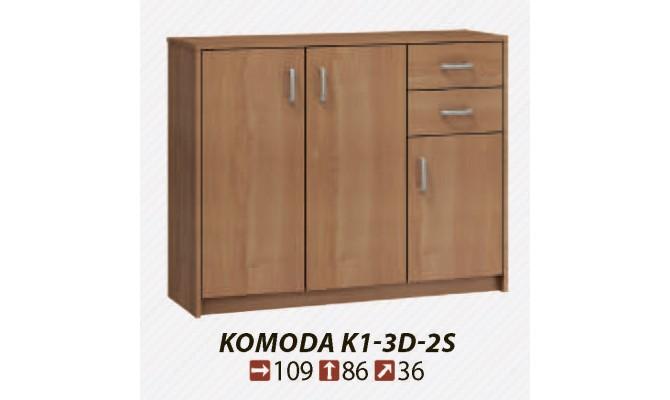 Комод KOMODA K1-3D-2S (MEBLOCROSS)