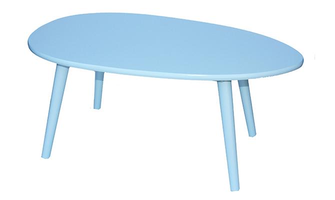 Овальный журнальный столик blue Diram
