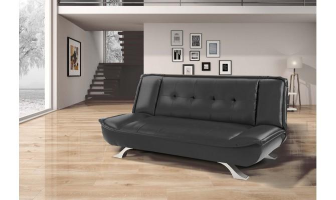 кожаный диван 1009 чёрный (Interbig Service)