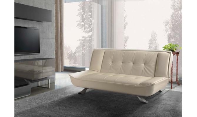 кожаный диван 1009 кремовый (Interbig Service)